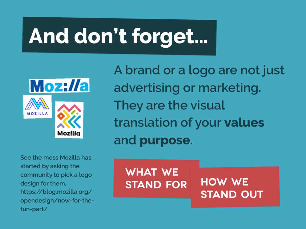 A brand or a logo are not just advertising or m...