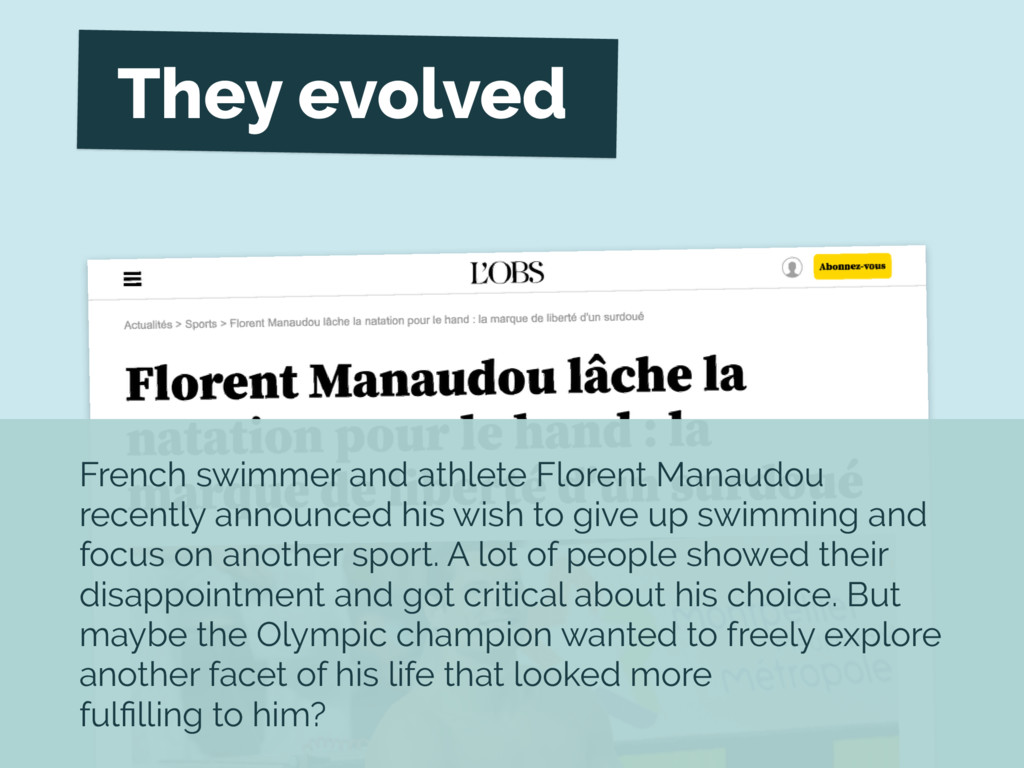 French swimmer and athlete Florent Manaudou rec...