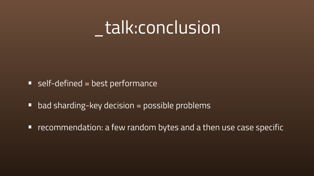 _talk:conclusion • self-defined = best performa...