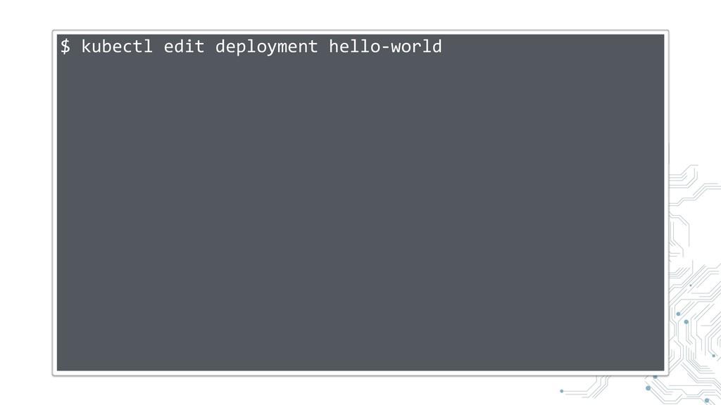 $ kubectl edit deployment hello-world