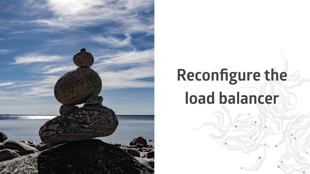Reconfigure the load balancer