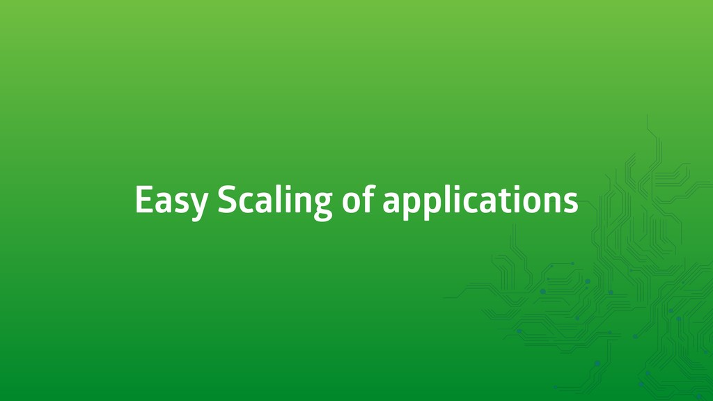 Easy Scaling of applications