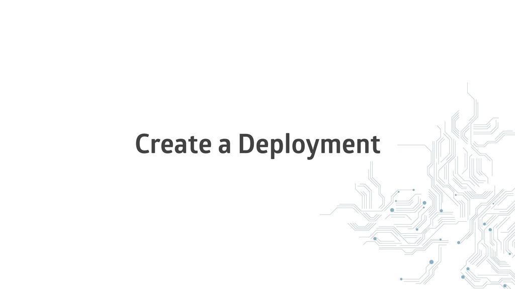 Create a Deployment