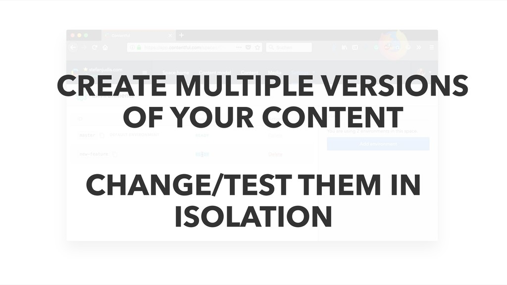 CREATE MULTIPLE VERSIONS OF YOUR CONTENT CHANGE...