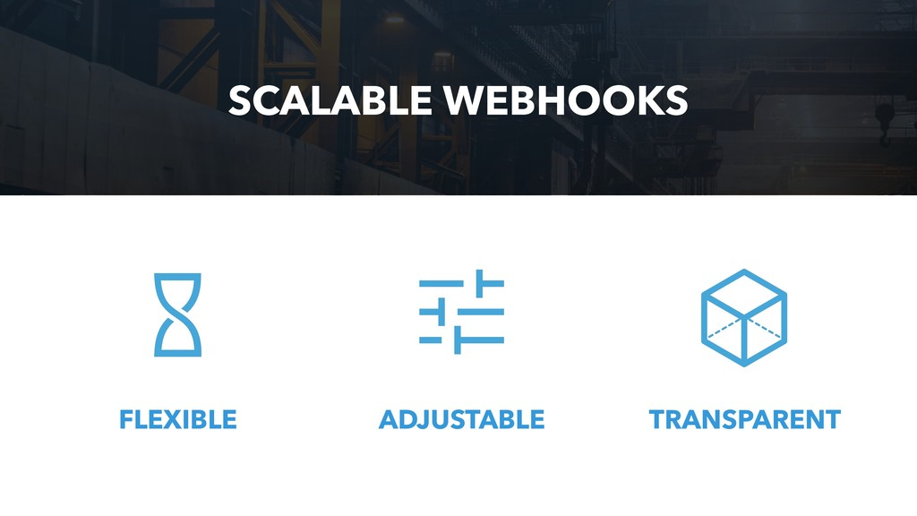 ADJUSTABLE SCALABLE WEBHOOKS FLEXIBLE TRANSPARE...