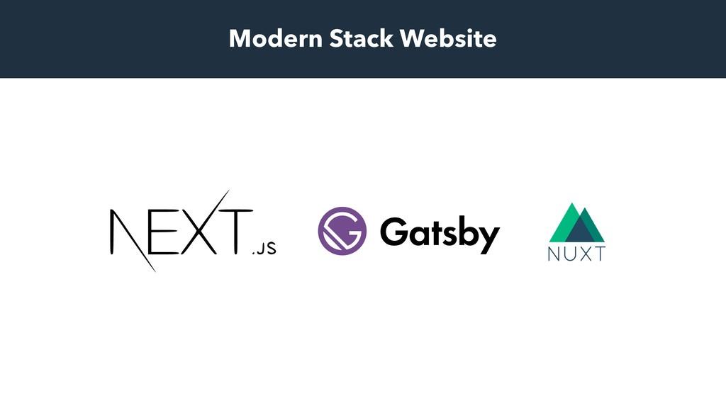 Modern Stack Website