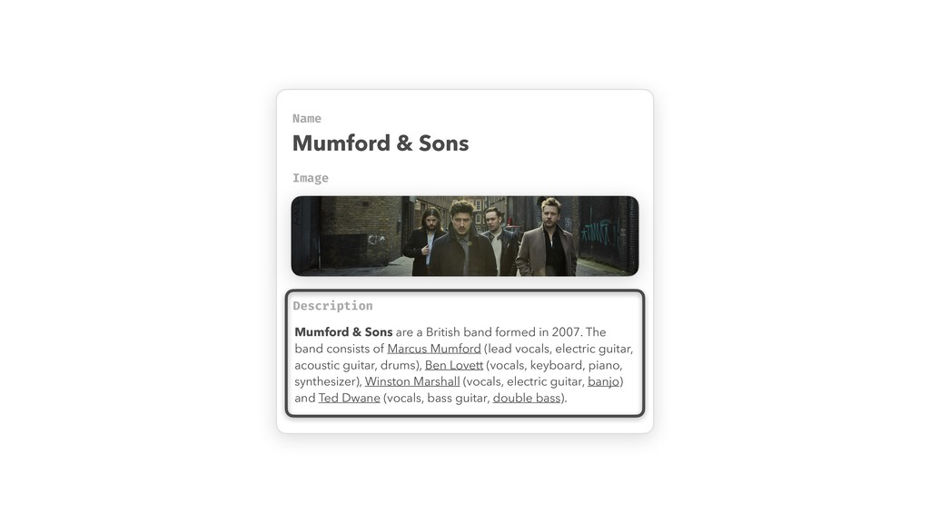 Name Image Mumford & Sons Description Mumford &...