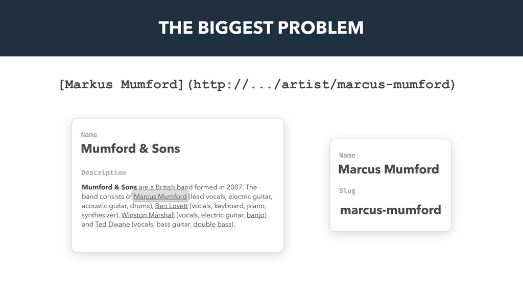 THE BIGGEST PROBLEM Name Mumford & Sons Name Ma...