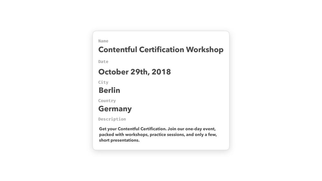 Name Date Contentful Certification Workshop Desc...
