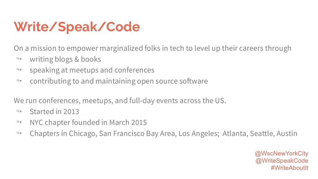 @WscNewYorkCity @WriteSpeakCode #WriteAboutIt W...