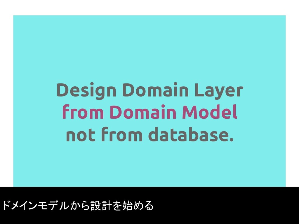 Design Domain Layer from Domain Model not from ...