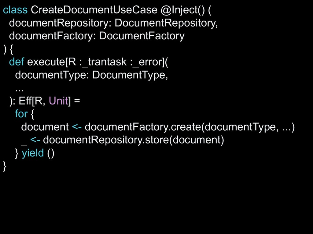 class CreateDocumentUseCase @Inject() ( documen...