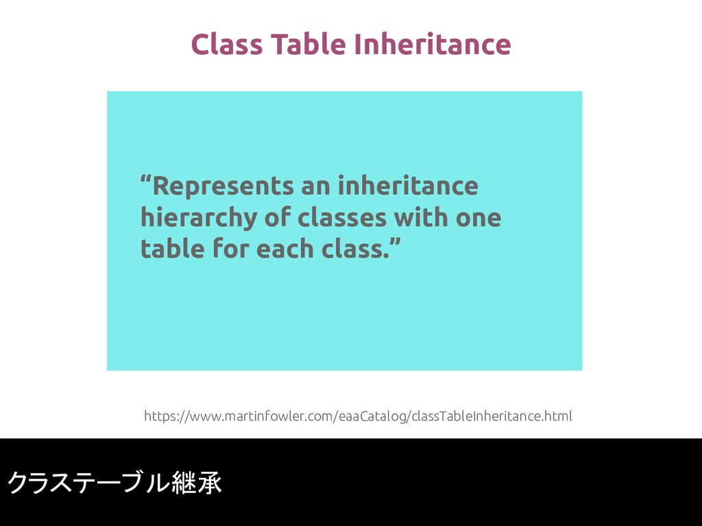 """Represents an inheritance hierarchy of classes..."