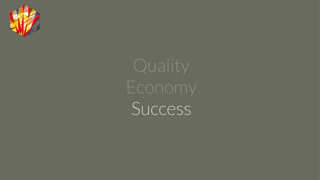 Quality Economy Success