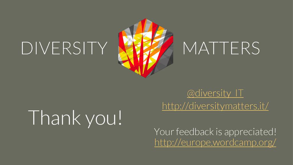 @diversity_IT http://diversitymatters.it/ Your ...