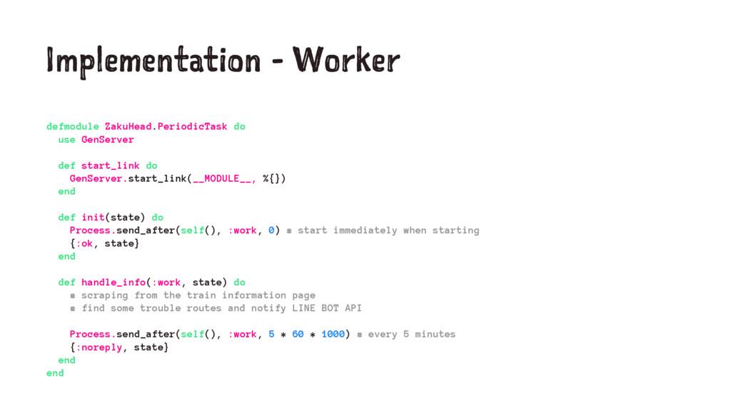 Implementation - Worker defmodule ZakuHead.Peri...