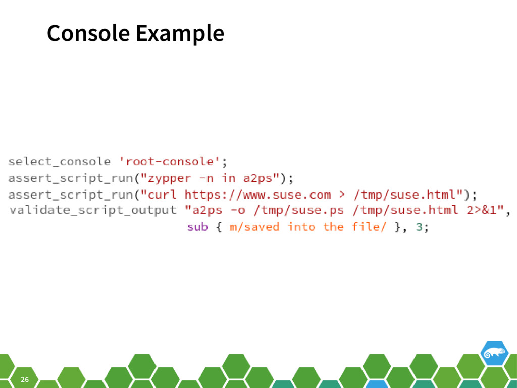 26 Console Example