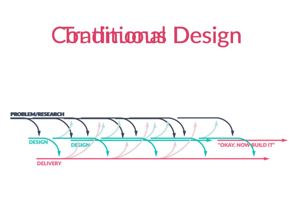 ConAnuous Design TradiAonal Design