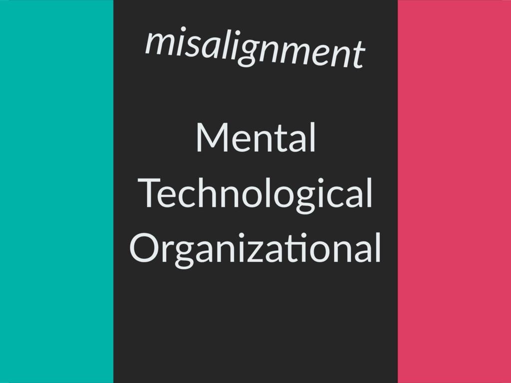 Mental Technological OrganizaAonal misalignment