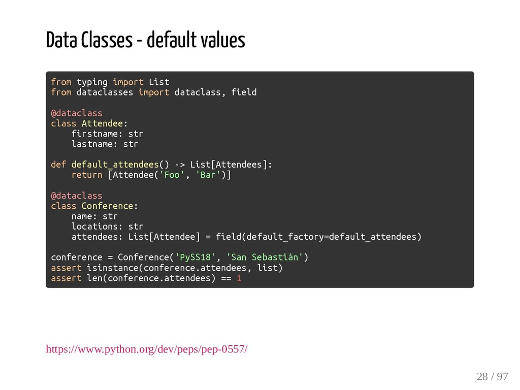 Data Classes - default values from typing impor...
