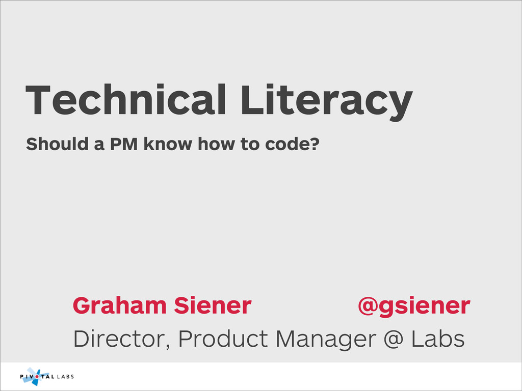 Should a PM know how to code? Director, Product...