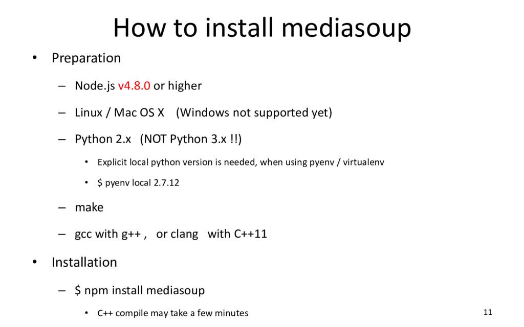 How to install mediasoup • Preparation – Node.j...