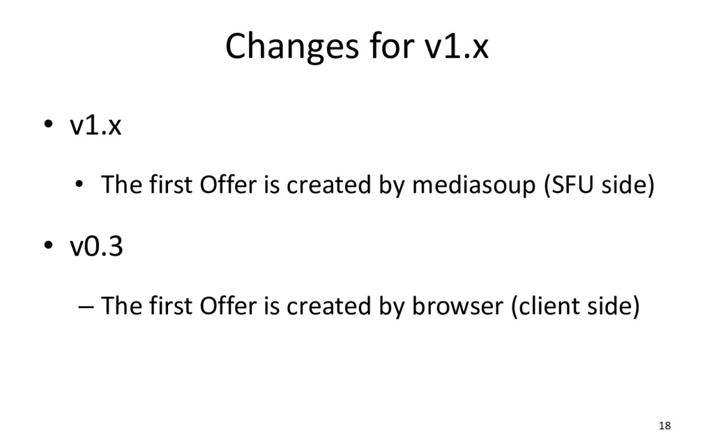 Changes for v1.x • v1.x • The first Offer is cr...