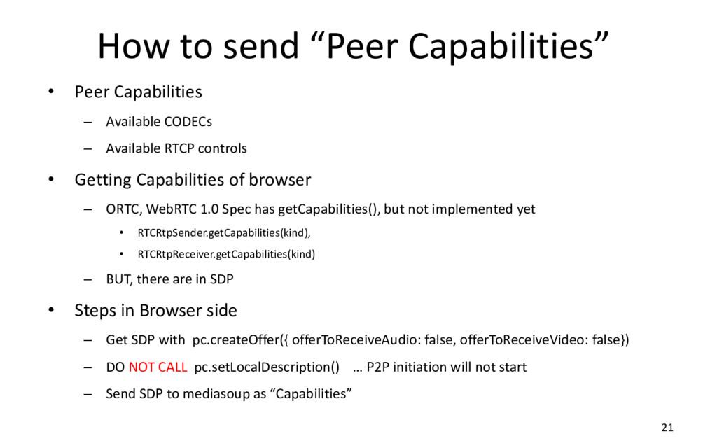 "How to send ""Peer Capabilities"" • Peer Capabili..."