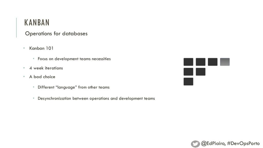 KANBAN Operations for databases • Kanban 101 • ...
