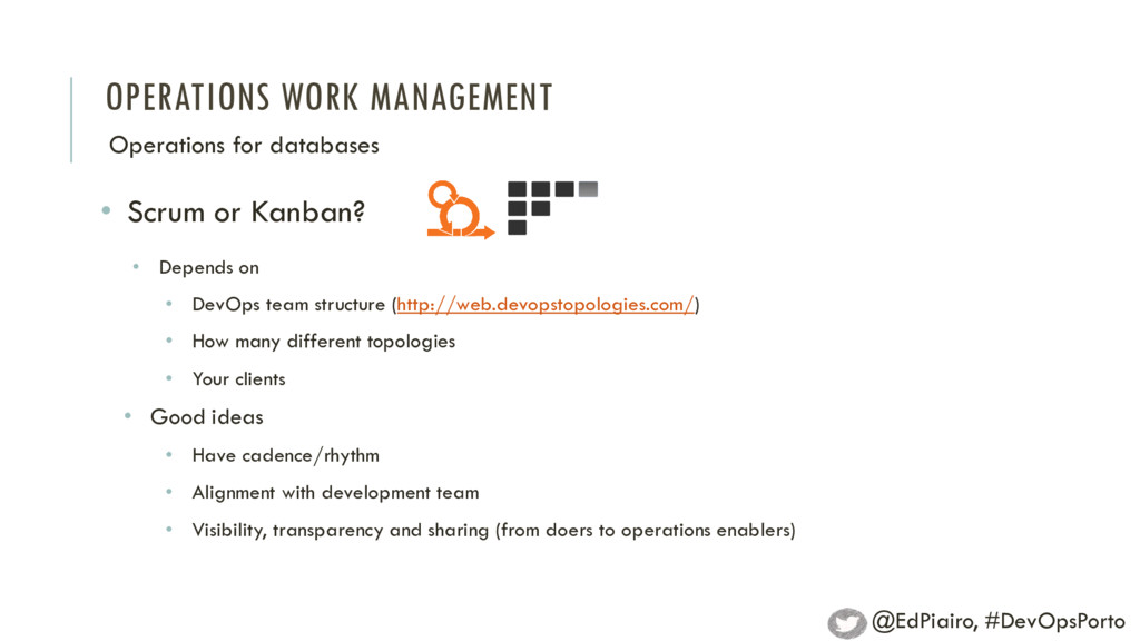 OPERATIONS WORK MANAGEMENT Operations for datab...