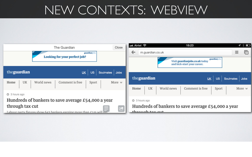NEW CONTEXTS: WEBVIEW