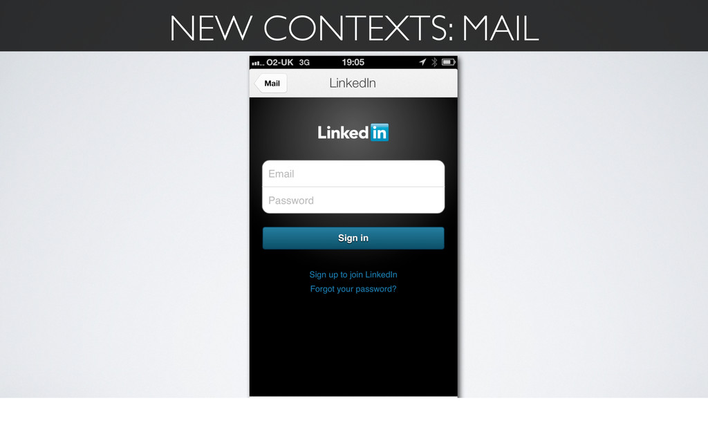 NEW CONTEXTS: MAIL