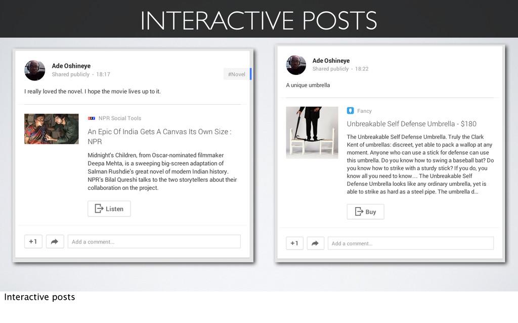 INTERACTIVE POSTS Interactive posts