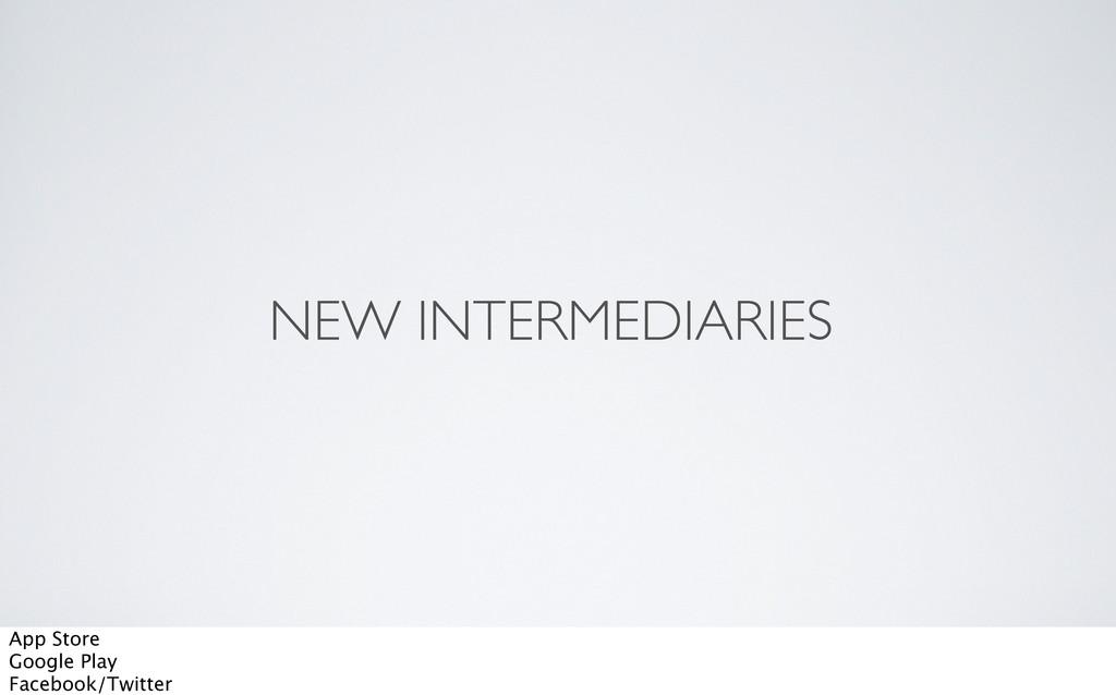 NEW INTERMEDIARIES App Store Google Play Facebo...