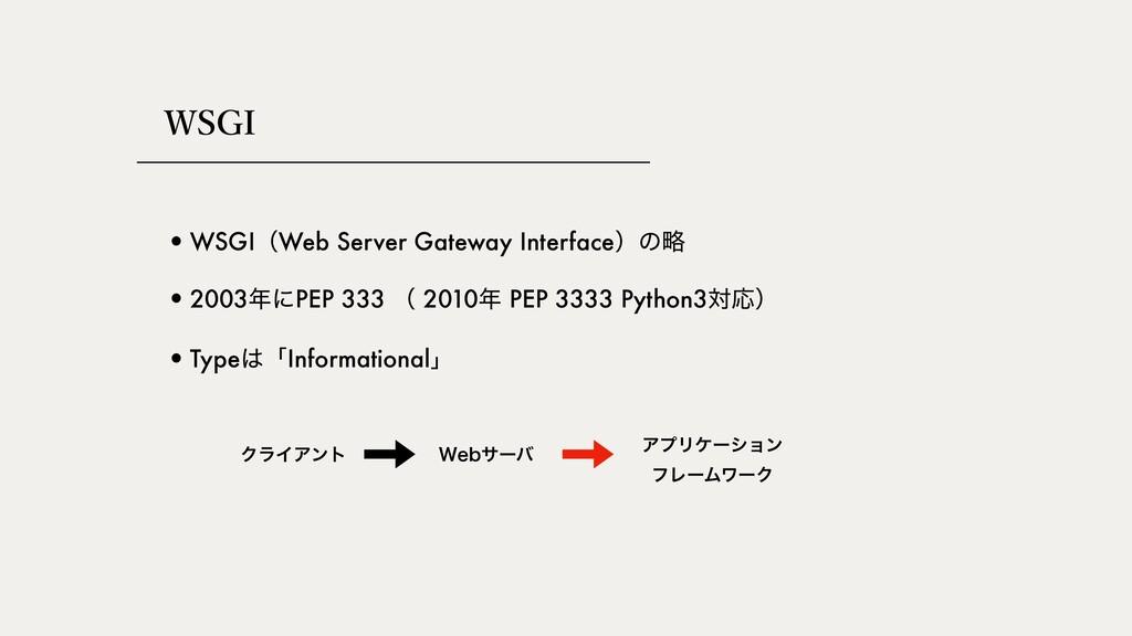 84(* •WSGIʢWeb Server Gateway Interfaceʣͷུ •Typ...