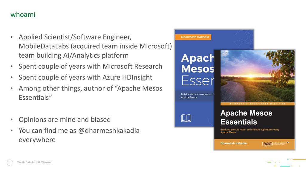 Mobile Data Labs & Microsoft • Applied Scientis...