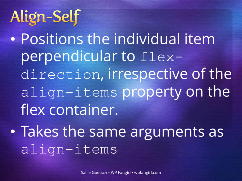 • Positions the individual item perpendicular t...