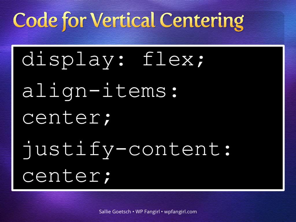 display: flex; align-items: center; justify-con...