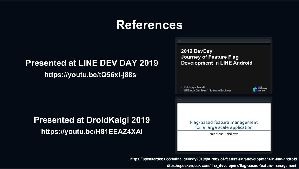 References https://youtu.be/tQ56xi-j88s Present...