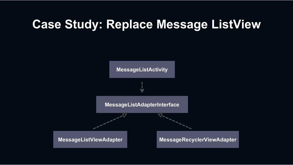 MessageListViewAdapter Case Study: Replace Mess...