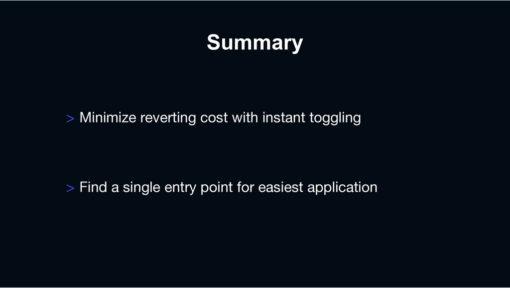 > Minimize reverting cost with instant toggling...