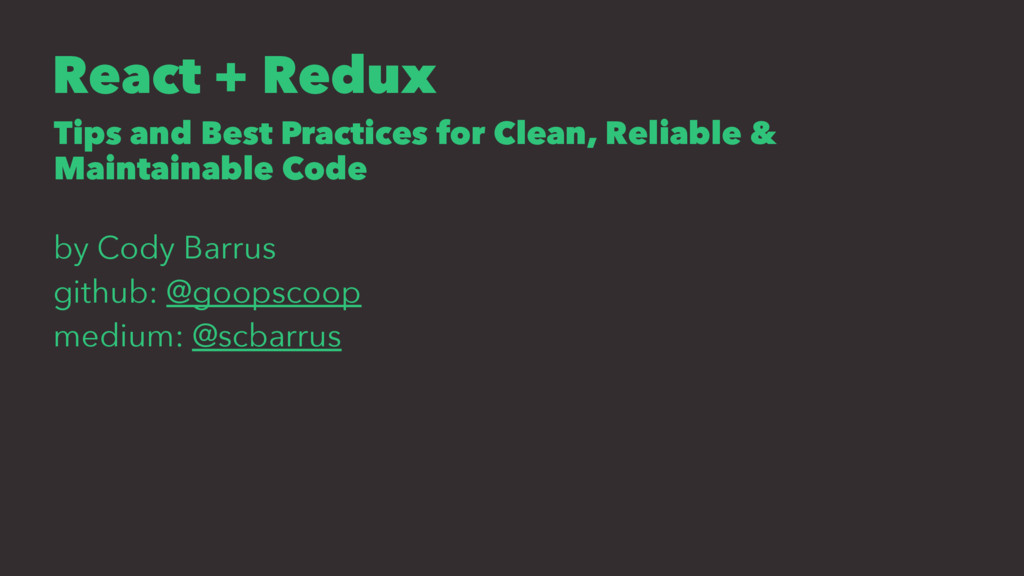 React + Redux Tips and Best Practices for Clean...
