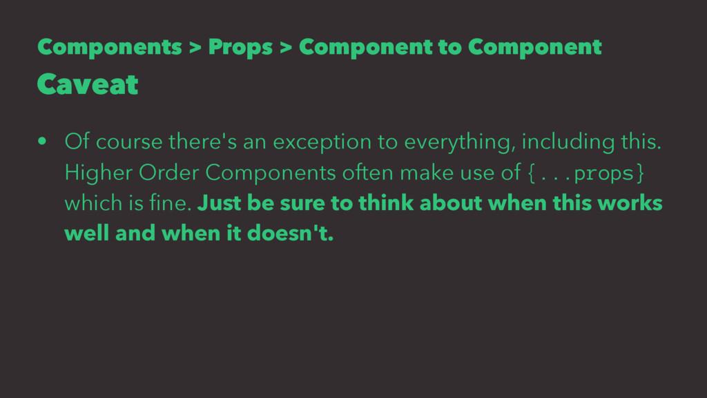 Components > Props > Component to Component Cav...