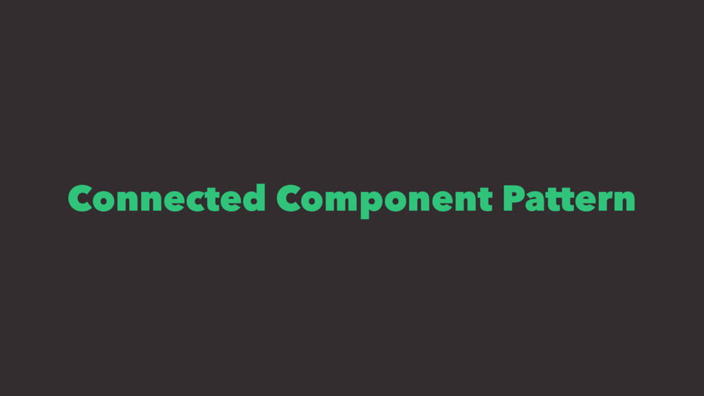 Connected Component Pattern