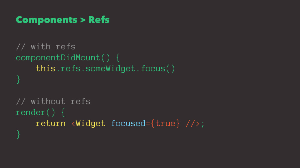 Components > Refs // with refs componentDidMoun...