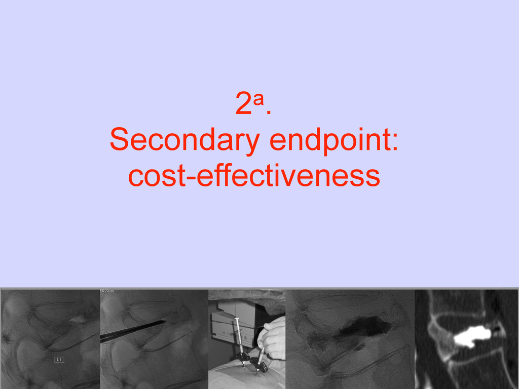 2a. Secondary endpoint: cost-effectiveness