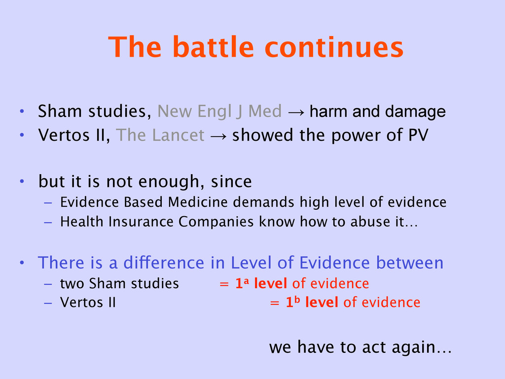 The battle continues • Sham studies, New Engl J...