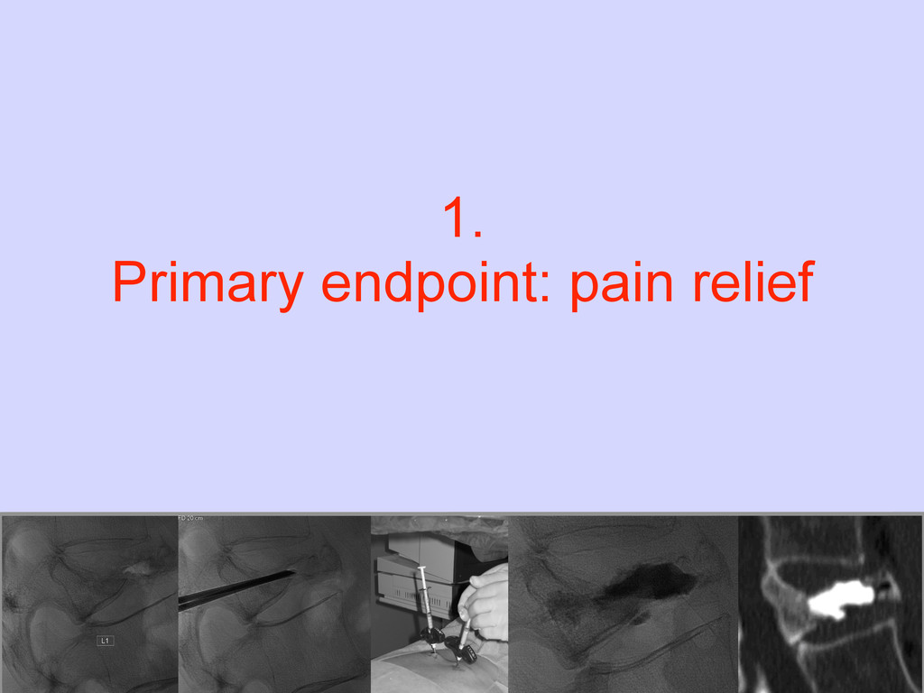 1. Primary endpoint: pain relief