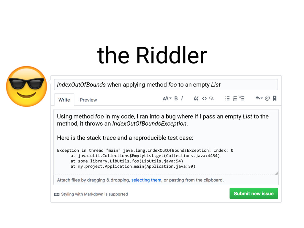 the Riddler IndexOutOfBounds when applying met...