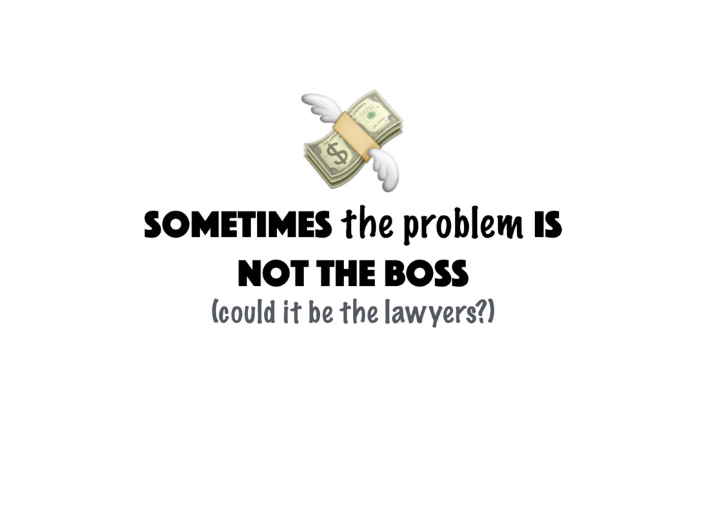 sometimes the problem is not the Boss (could it...